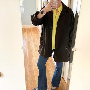 Emanuel Ungaro Dark Brown Linen Jacket